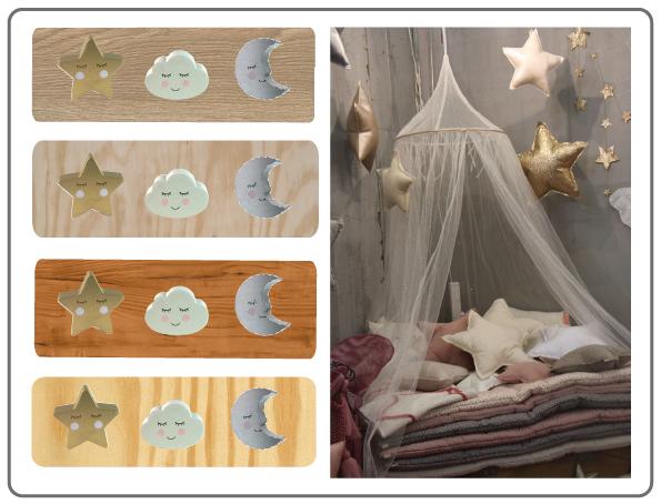 bouton de meuble enfant lune-bouton de meuble nuage-bouton de meuble étoile
