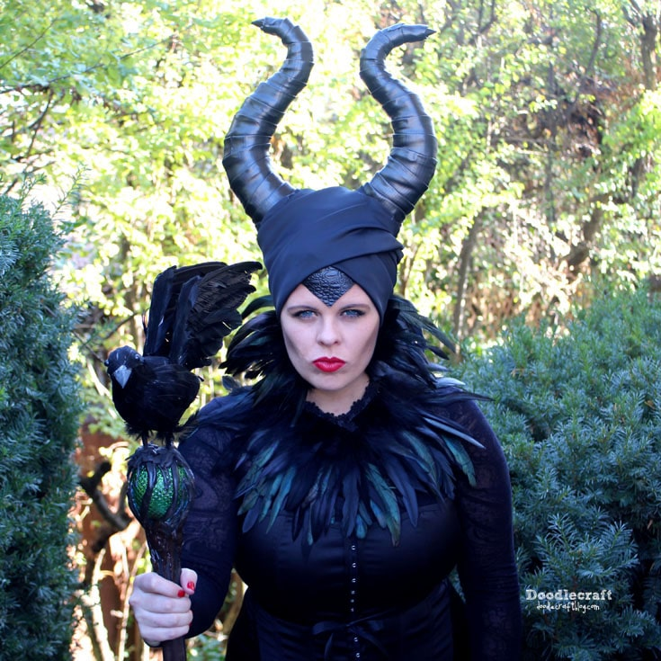 Maleficent Disney Inspired Cosplay DIY Halloween Costume!