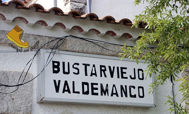 Cartel Estación Bustarviejo-Valdemanco