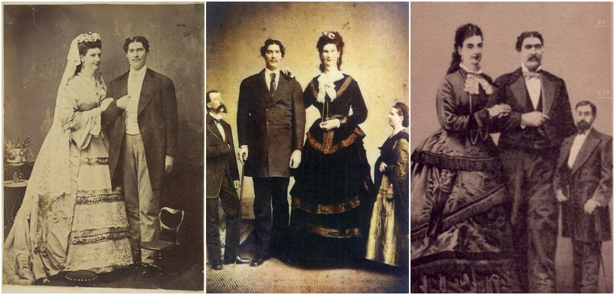 The Giants of Seville: Rare Photos of Anna Haining Swan and Martin Van Buren Bates, the Tallest Married Couple Ever