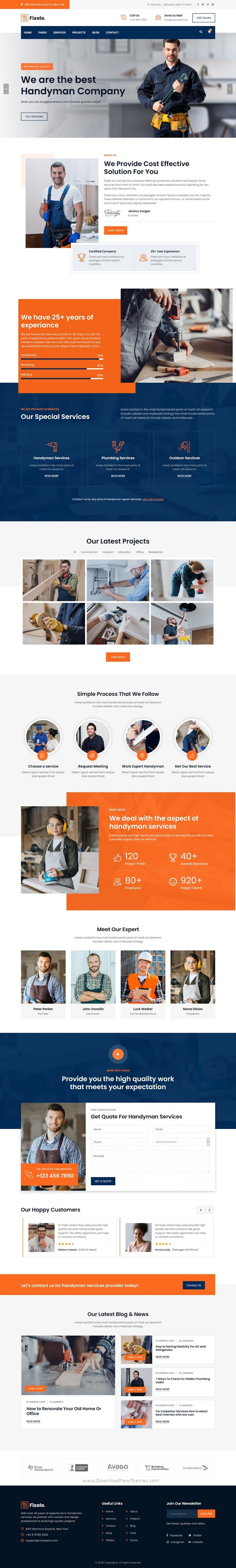 Handyman Repair Services HTML Template
