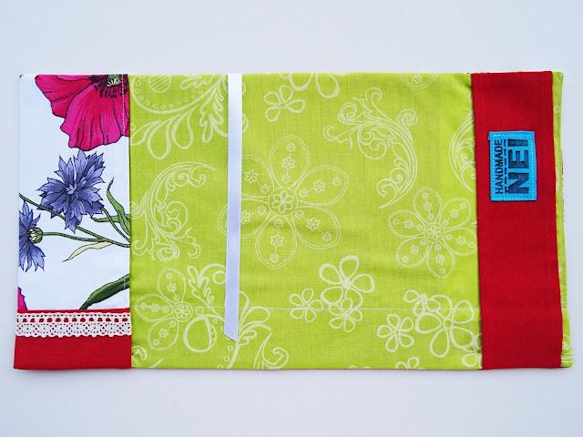 """Handmade Nel: Калъф за книга от плат """"Пеперудени макове"""""""