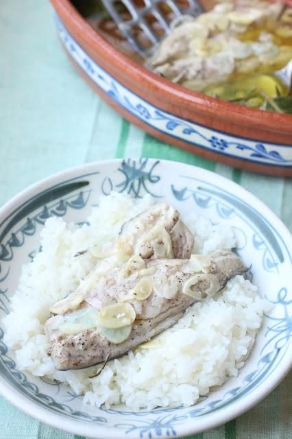 maquereau huile d'olive et ail recette grecque