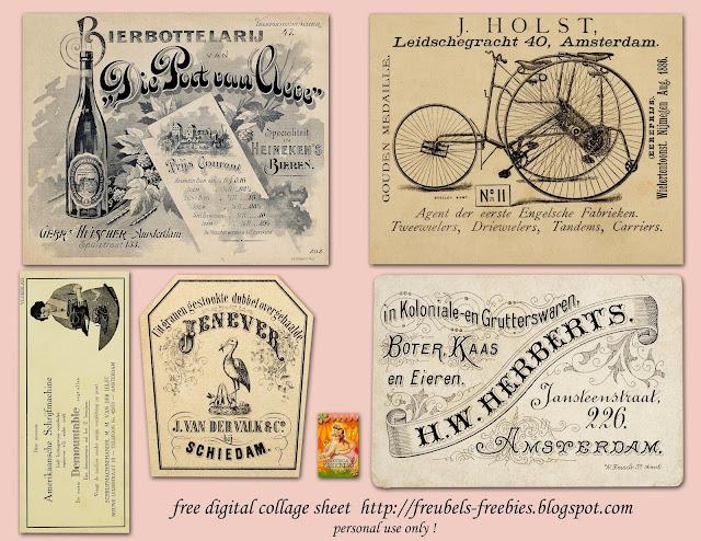 Holanda: Etiquetas Vintage para Imprimir Gratis.