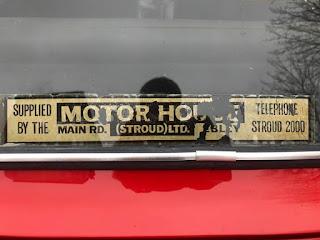 Motor House (Stroud) Ltd rear window sticker
