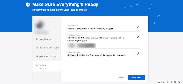 Migrate : Cara Tukar Akaun Peribadi Facebook Menjadi Fanpage