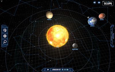 inner solar system for October 2020