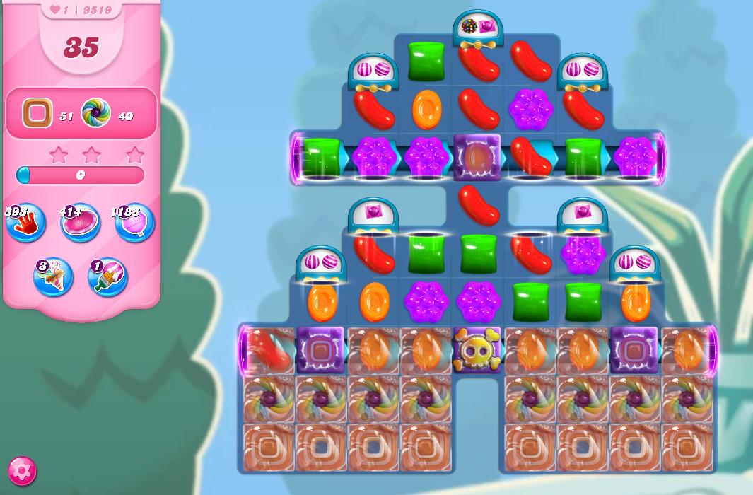 Candy Crush Saga level 9519