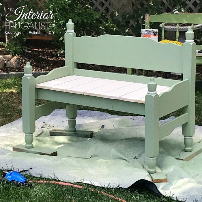 Headboard Garden Bench Assembled With Seat