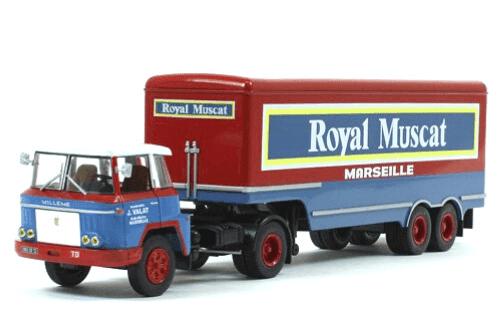 willeme ld 610 tbh horizon 1/43 royal muscat, coleção caminhões articulados altaya, coleção caminhões articulados planeta deagostini, coleção caminhões articulados 1:43