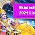 Ekadashi 2021 list   Ekadashi kab hai 2021 - Ekadashi Today