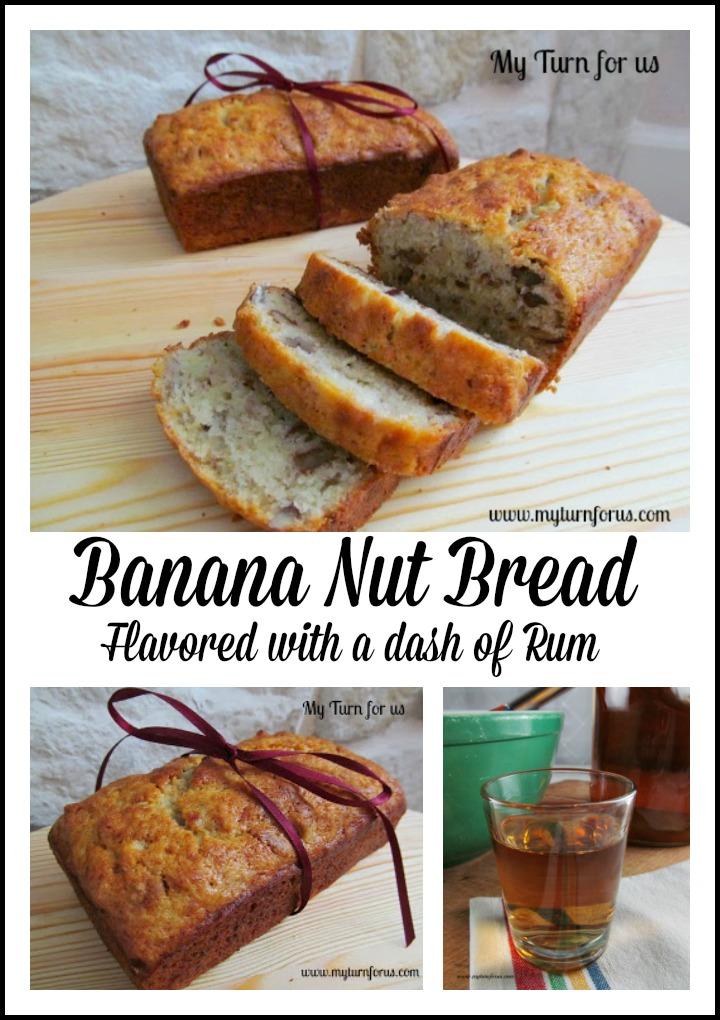 Banana Nut Bread Enhanced With Spiced Rum