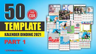 Template Kalender Dinding 2021 CDR