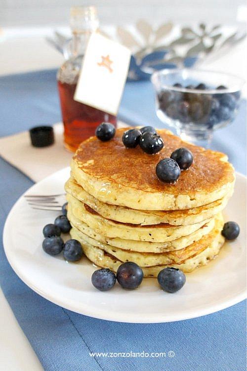 Pancakes ricetta perfetta da leccarsi i bassi - pancake perfect recipe blueberry