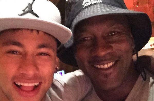 Neymar and Michael Jordan