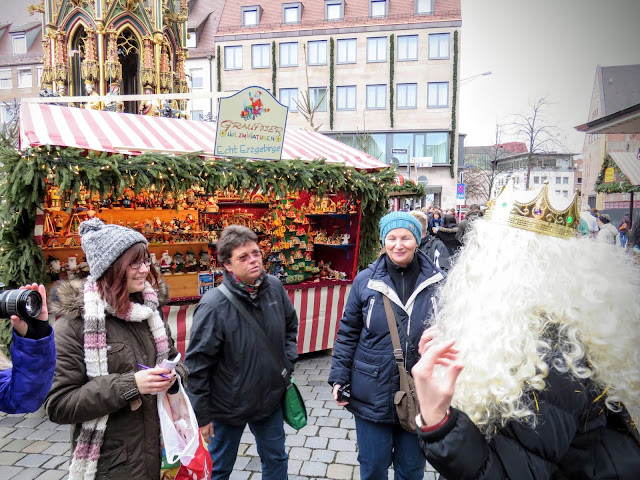 Posing as the local Christkind of the day at the Nuremberg Christmas Market