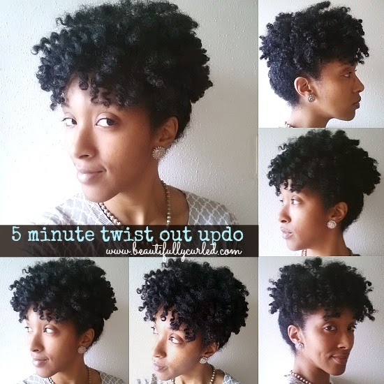 High Puff Natural Hair For A Nanny Interview