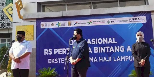 Usai Tinjau RS Darurat Di Lampung, Erick Thohir Dilarikan ke RSUDAM