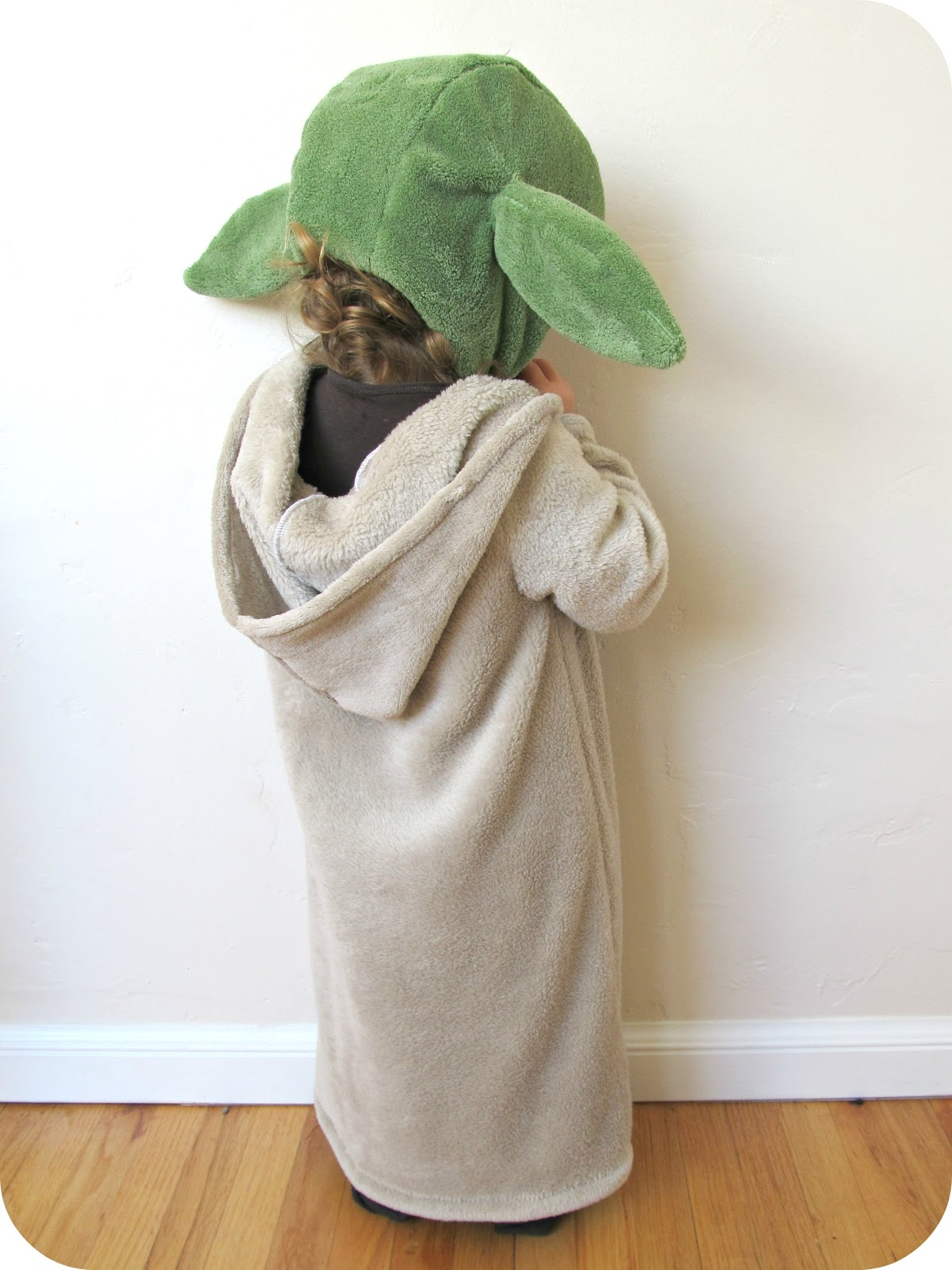 comfy dress up  yoda costume   Home made by jill 2013