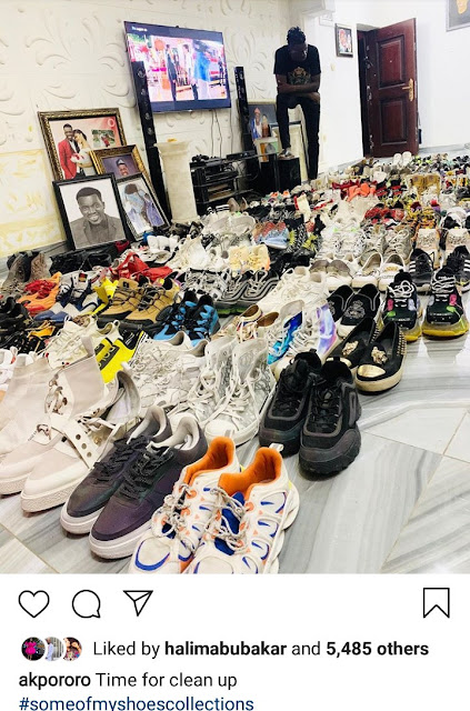 Comedian Akpororo's Shoe Collection
