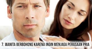 Wanita berbohong karena ingin Menjaga Perasaan Pria