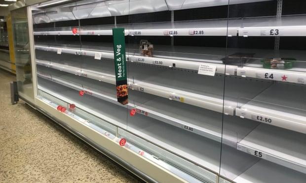 Пустые полки магазинов Великобритании во время пандемии - Бритиш Таймз (The British Times)