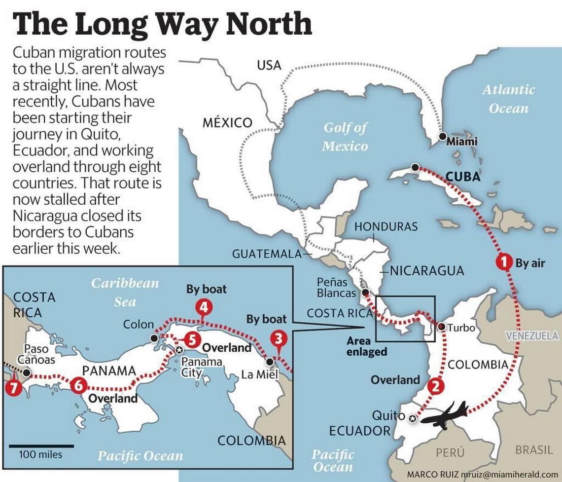 Cubans Flock To Florida Cubaninsider Map Of Cuba And Usa