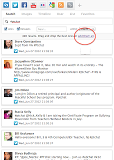 Save time while archiving twitter conversations lead learner blog 2 then look in the upper right hand side where it shows how many tweets you have selected or in this case 420 results drag and drop the best ones or add malvernweather Image collections