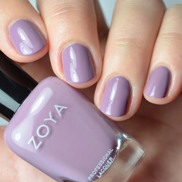 dusty purple nail polish