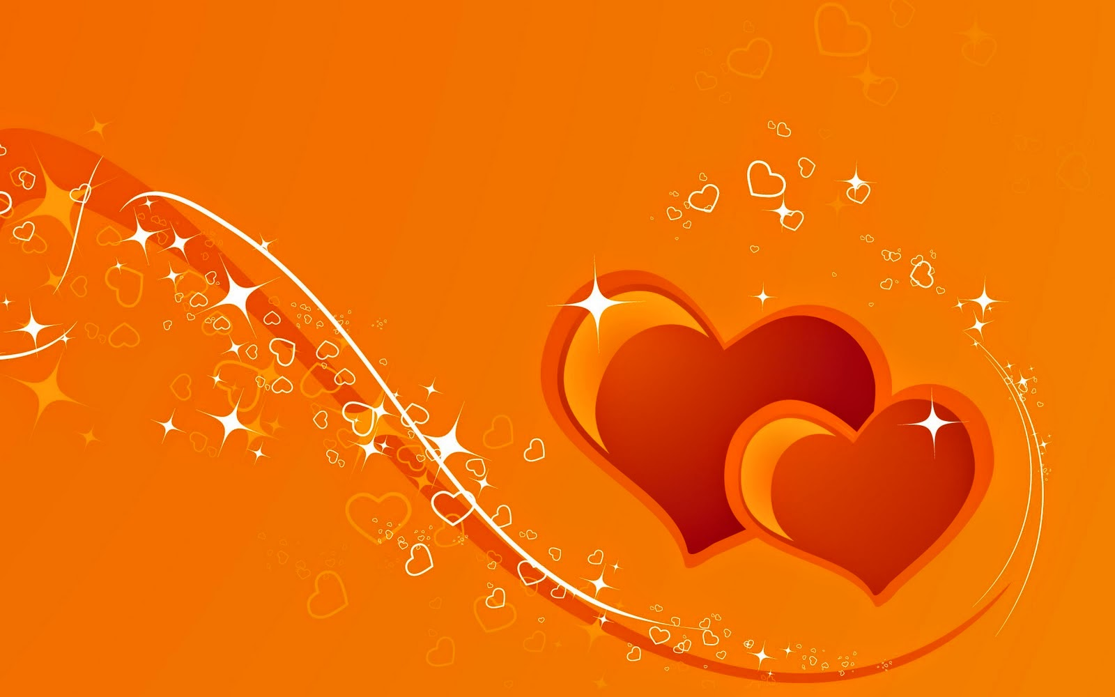 orange wallpaper love