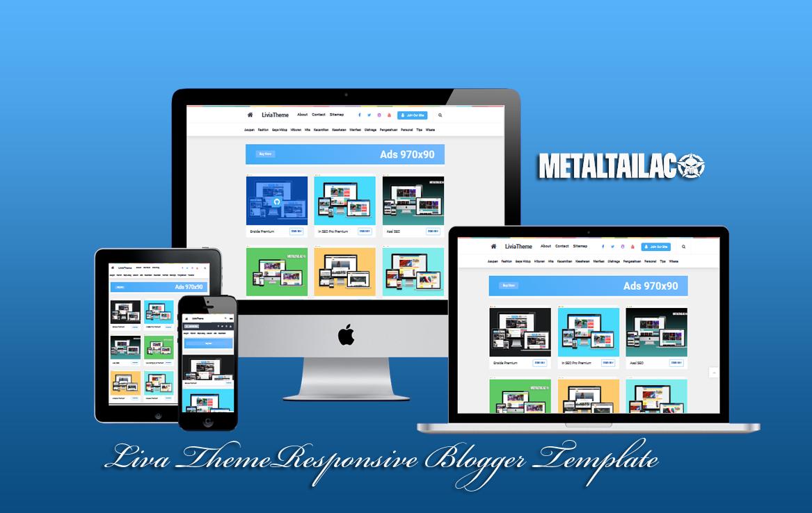 LiviaTheme V2.0  Responsive Blogger Template