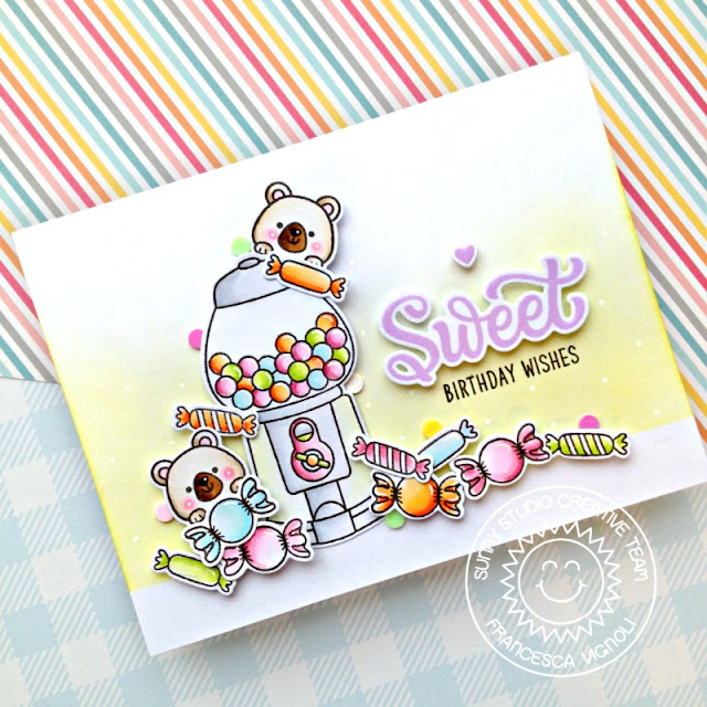 Sunny Studio Stamps: Candy Shoppe Beach Buddies Birthday Card by Franci Vignoli
