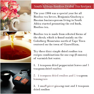 South African Rooibos Herbal Tea Recipes