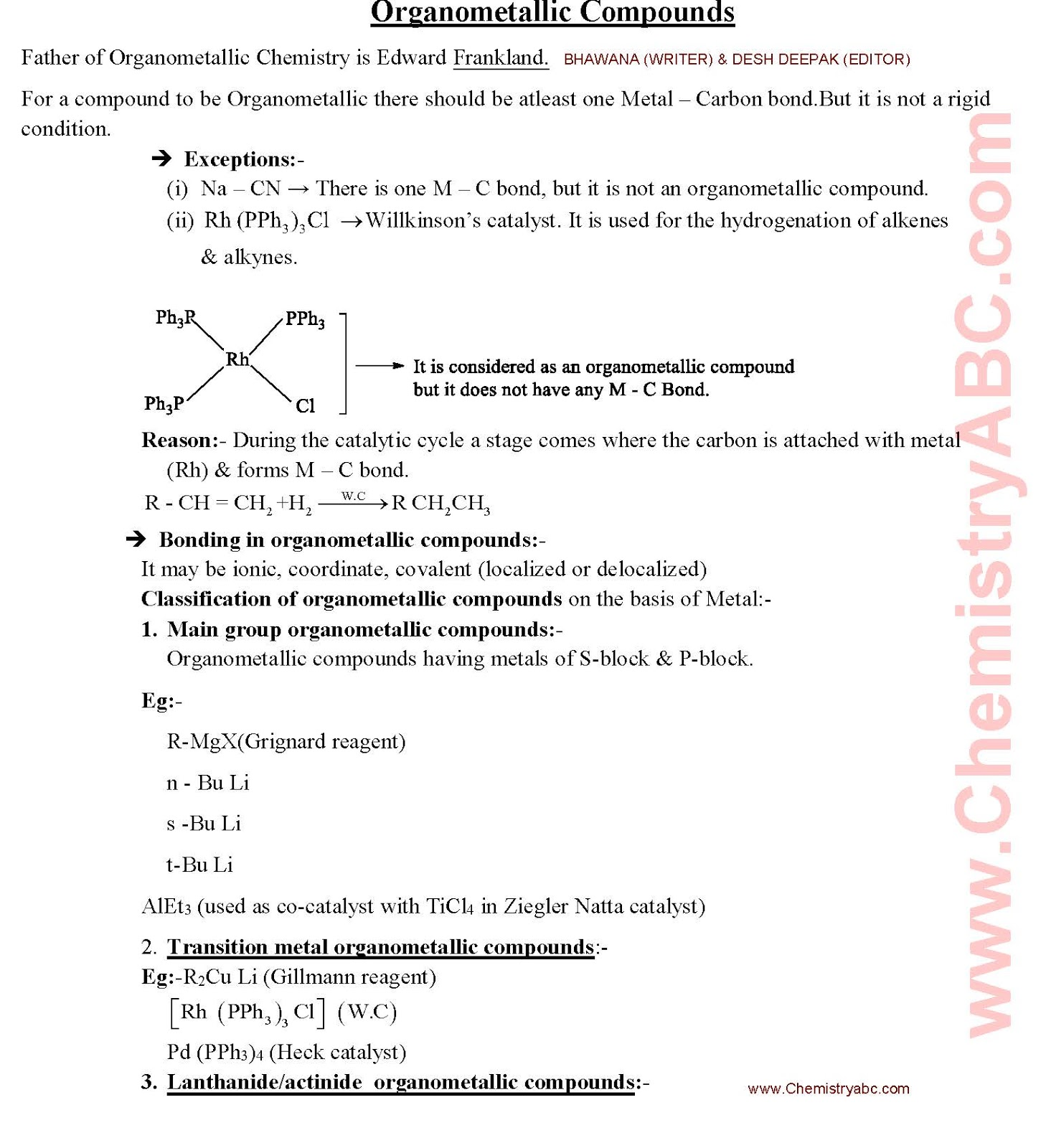 Chemical Bonding Notes Pdf