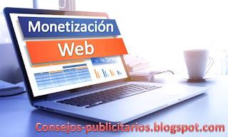 Formas de monetización web