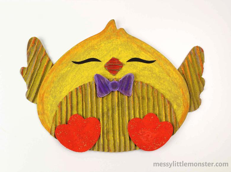 cardboard chick craft