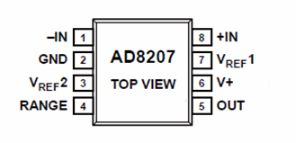 ad8207-pin-configuration-schematic-and-datasheet