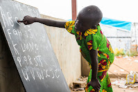 A school at the Protections of Civilians (POC) site of the UN Mission in South Sudan (UNMISS), located in the Tomping area of Juba.
