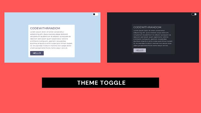 Theme Switch using javascript   theme toggle html css javascript