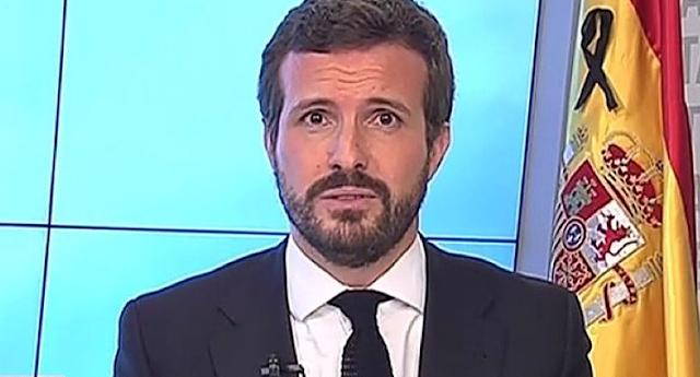 """Casado sobre Podemos: """"No podemos negociar con un partido que está imputado por financiación irregular"""""""