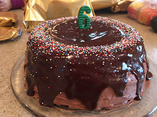 GF Chocolate Birthday Cake with Toasted Marshmallow