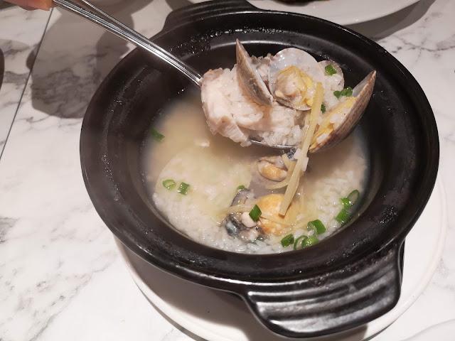 Charcoal Broken Rice Claypot Porridge with Seafood