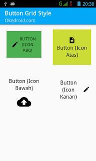 Hasil Result Icon dan Text pada Button Android Layout XML