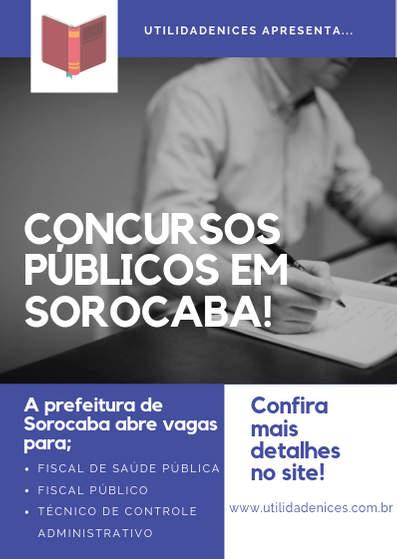 Concurso Público Sorocaba em 2019