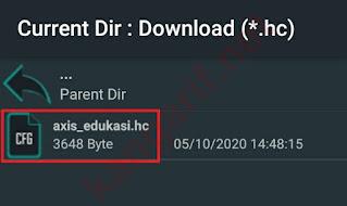 config HTTP Custom Kuota Edukasi Axis