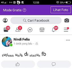 Cara Membuat tulisan Unik di Fb Lite Tanpa Aplikasi