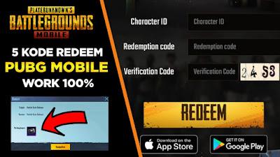 kode redeem pubg mobile terbaru