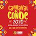 """Prefeitura divulga a programação do """"Carnaval de Conde 2020""""; confira"""
