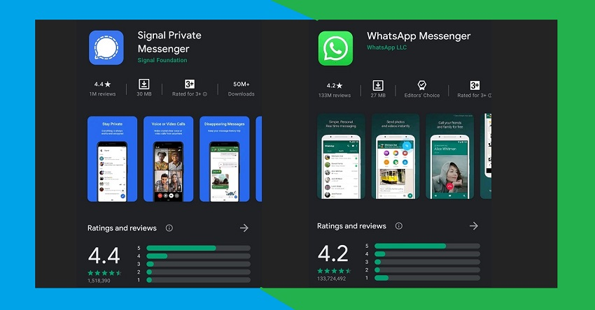 Which is better in Signal Private Messenger and WhatsApp?