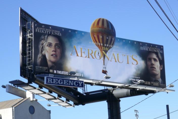 Aeronauts hot air balloon cut-out billboard